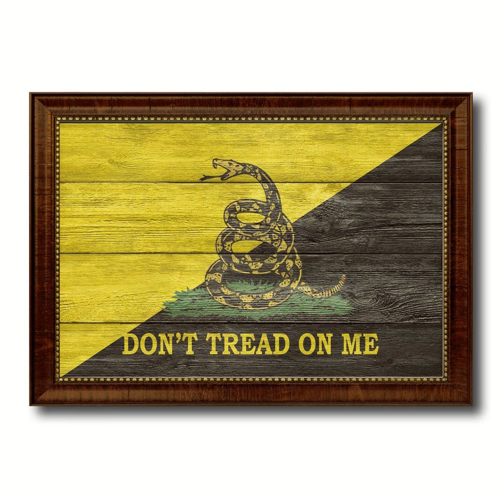 Gadsden Don\'t Tread on Me Military Flag Texture Canvas Print with ...
