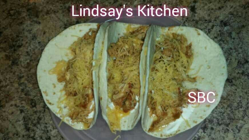 Crock Pot Chicken Tacos!! Yummy!!  3 lbs  boneless, skinless chicken breasts 1 tablespoon chili powder 1/4 teaspoon garlic powder 1/4 teaspoon red pepper  1/4 teaspoon dried oregano 1/2 teaspoon paprika 1 ½ teaspoons ground cumin 1/2 teaspoon sea salt 1 teaspoon black pepper 1 (16 oz) jar your favorite salsa flour tortillas   Put chicken in crockpot on low.  Add all spices then pour salsa over the top and cover.   Serve on tortillas with your favorite toppings and enjoy!!  =)  ┊ ┊ ┊ ☆ Follow…