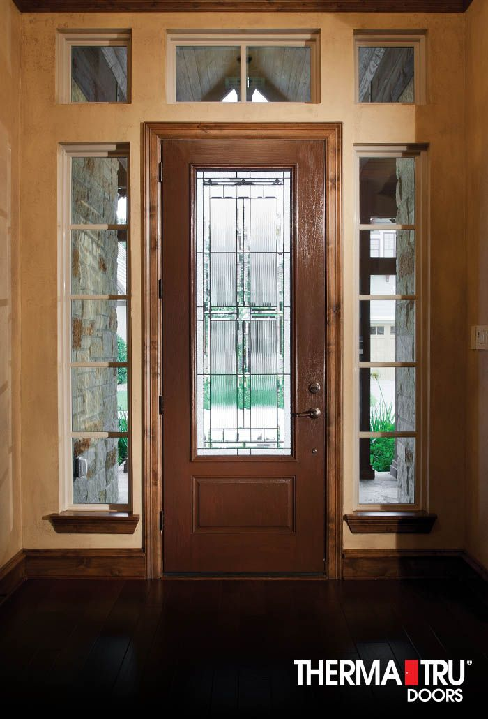 Therma tru fiber classic oak collection fiberglass door for Therma tru front door