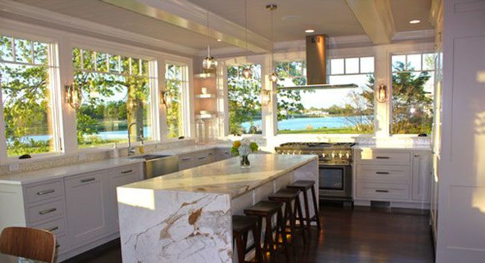 Large Kitchen Windows Over Sink Kitchen Remodel Contemporary Kitchen Lake House Kitchen
