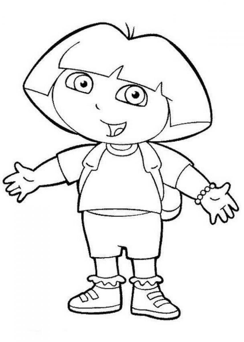 Dora The Explorer Coloring Pages Swiper The Fox Dora Coloring Detailed Coloring Pages Fox Coloring Page