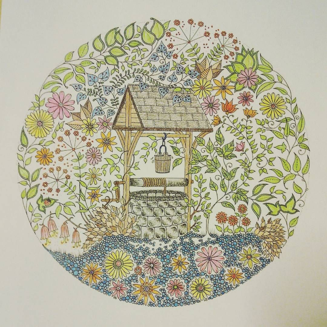 It is a weird weird garden...! #secretgarden #colorpencil #adultcoloringbook #adultcolouring #fabercastell