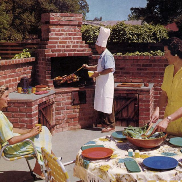 Brick Grills And Outdoor Countertops Building Your: 1960 BUILDING BARBECUES Mid Century Mod Old School Design