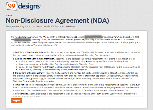 Sample NonDisclosure Agreement – Non Disclosure Agreement Form
