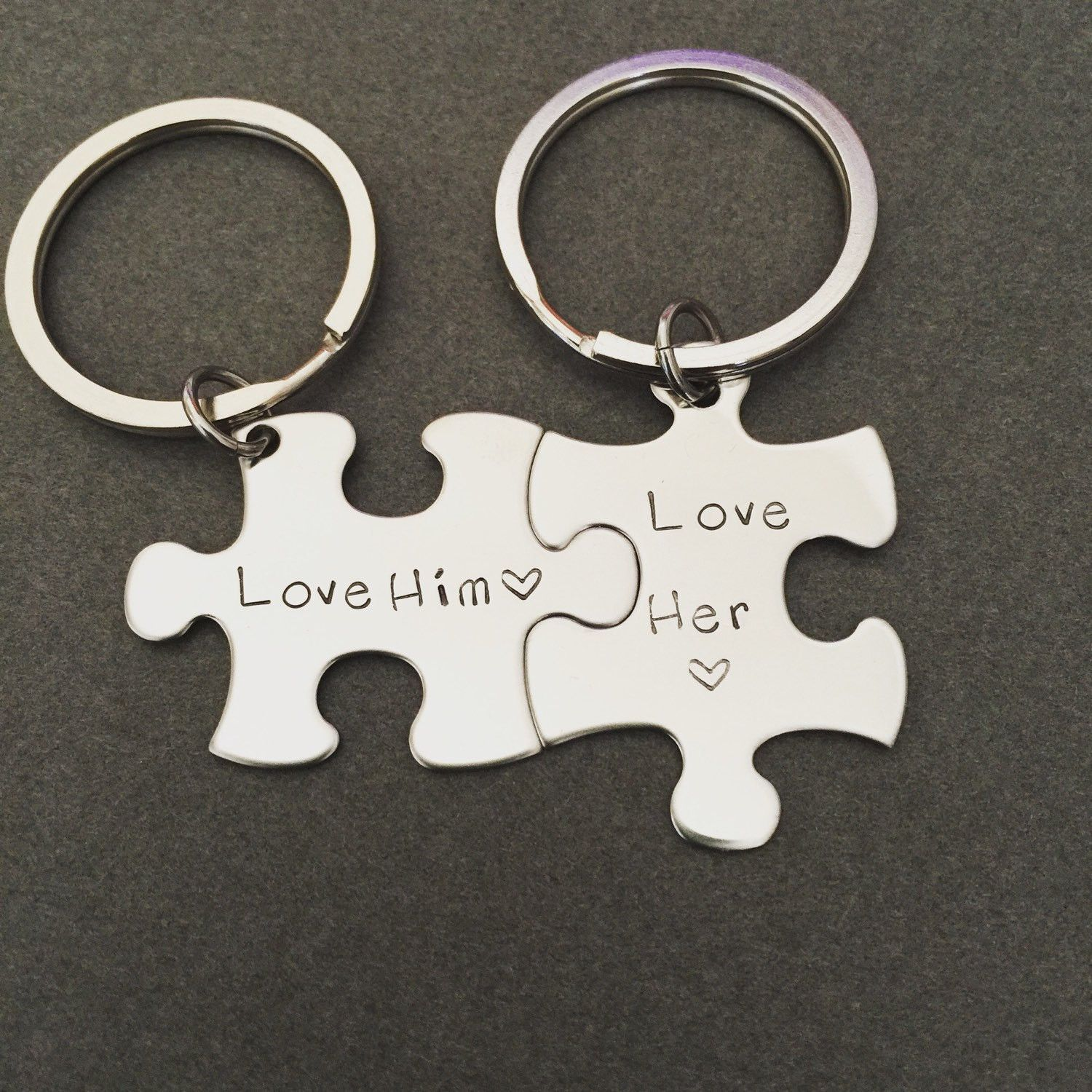 love him love her keychains personalized keychains couples