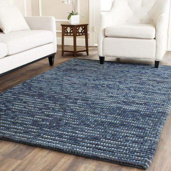 Safavieh Hand-knotted Bohemian Dark Blue/ Multi Hemp Rug (4' Square)
