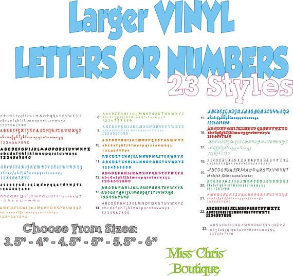 Vinyl Letters Single Vinyl Letter Vinyl Decal Number Sticker - Custom vinyl decals numbers