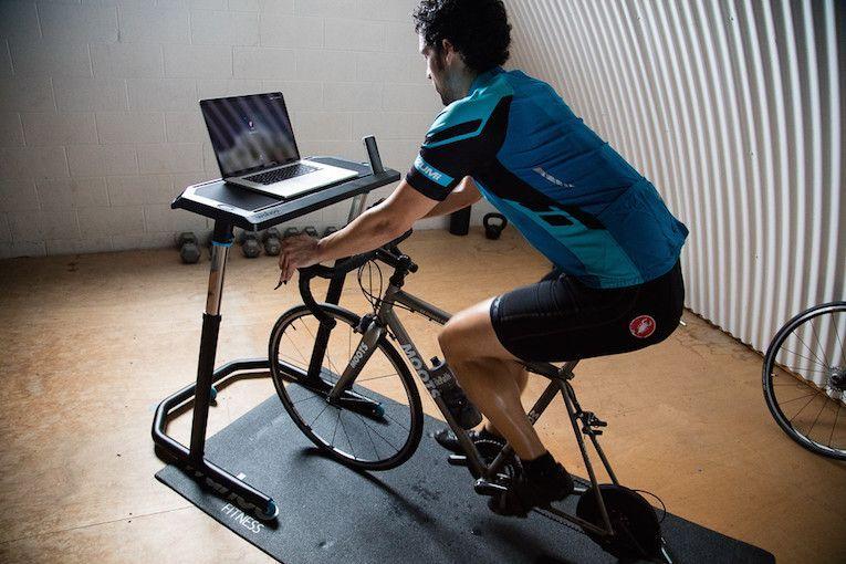 Kickr Indoor Cycling Desk In 2020 Biking Workout Indoor Bike