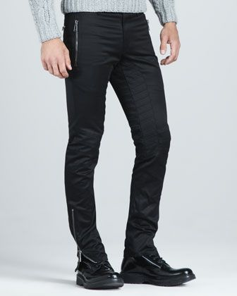 Newton Chino Motorcycle Pants by Belstaff at Neiman Marcus.
