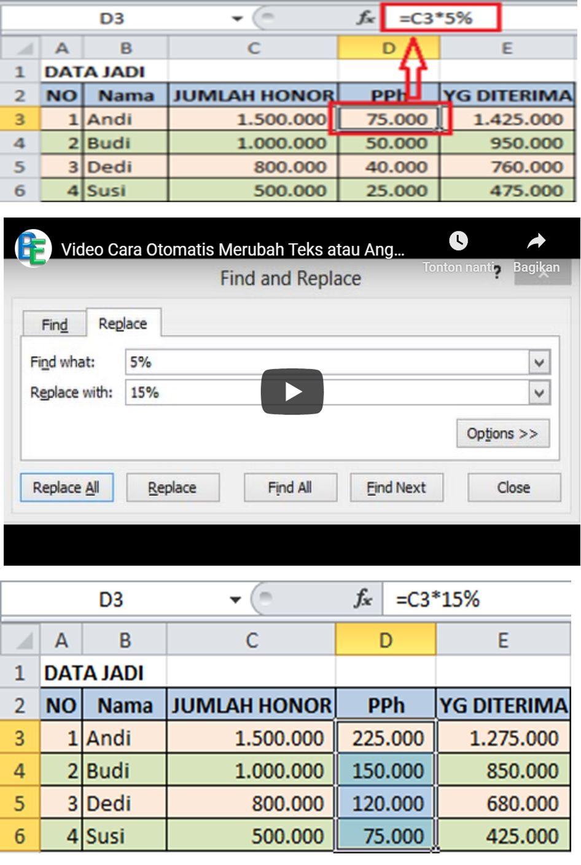 Video Cara Otomatis Merubah Teks Atau Angka Di Excel Teks Video Huruf