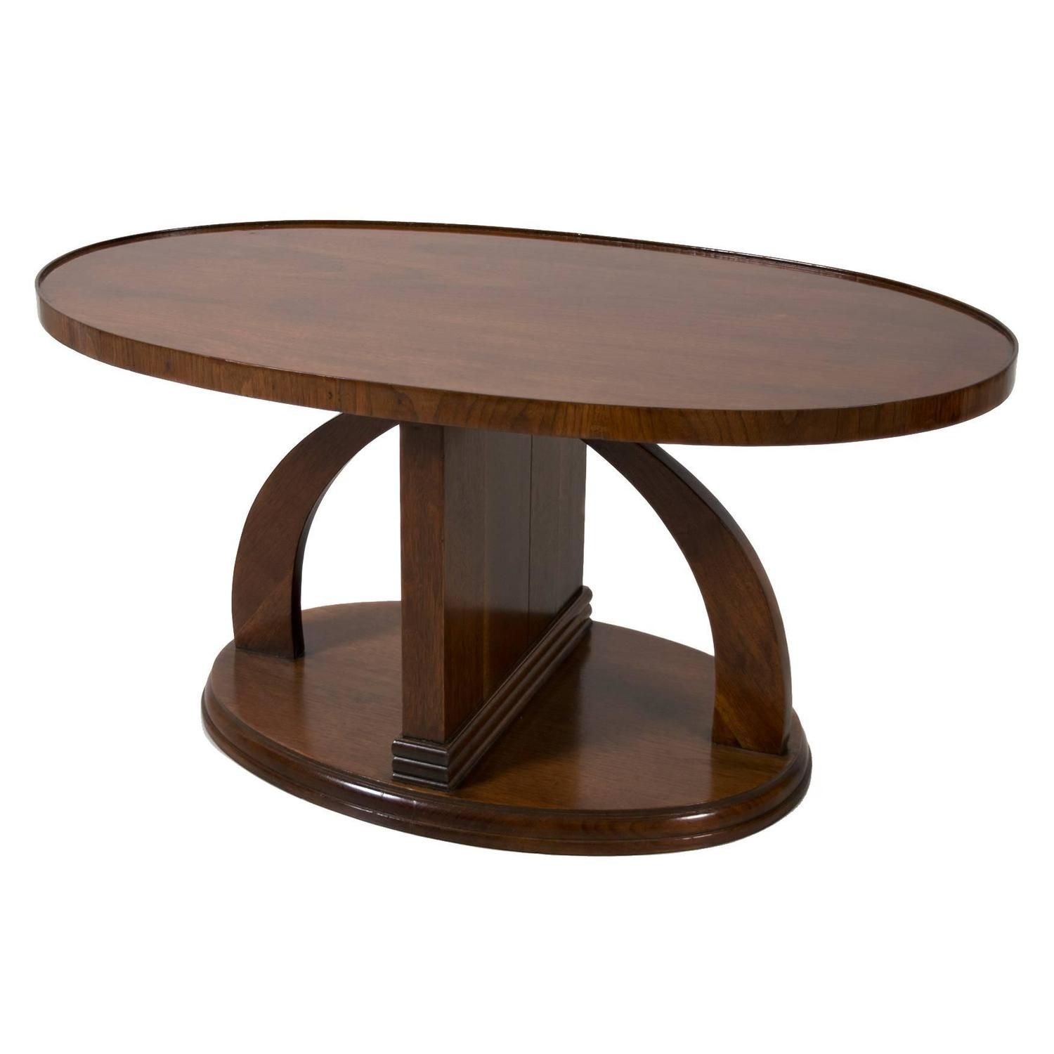 Swedish Art Deco Period Mahogany Coffee Table Or Occasional Table