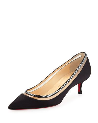 1f1a1caa753 Christian Louboutin Paulina Red Sole Satin Low-Heel Pump
