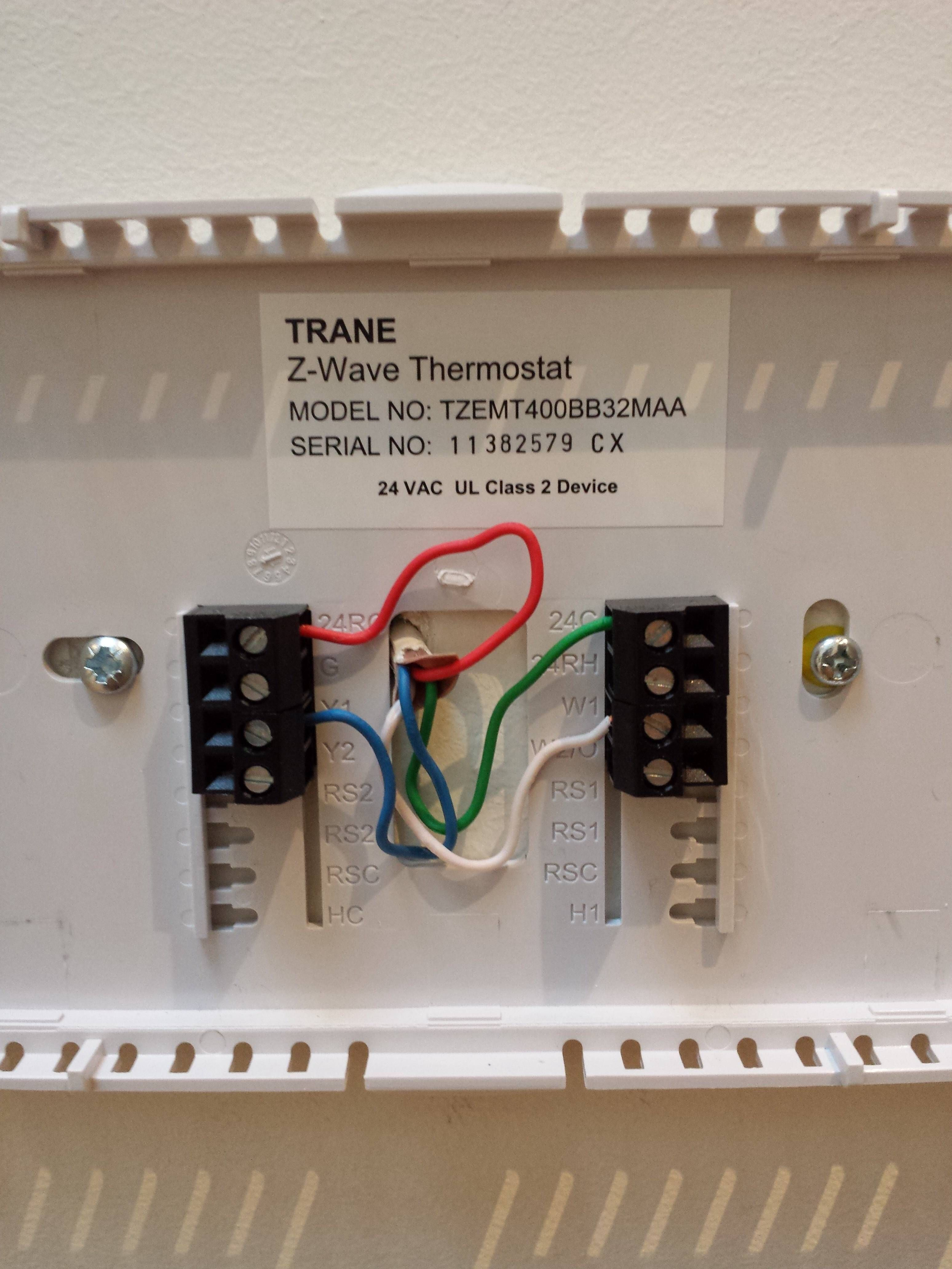 Trane thermostat wiring Thermostat wiring, Honeywell