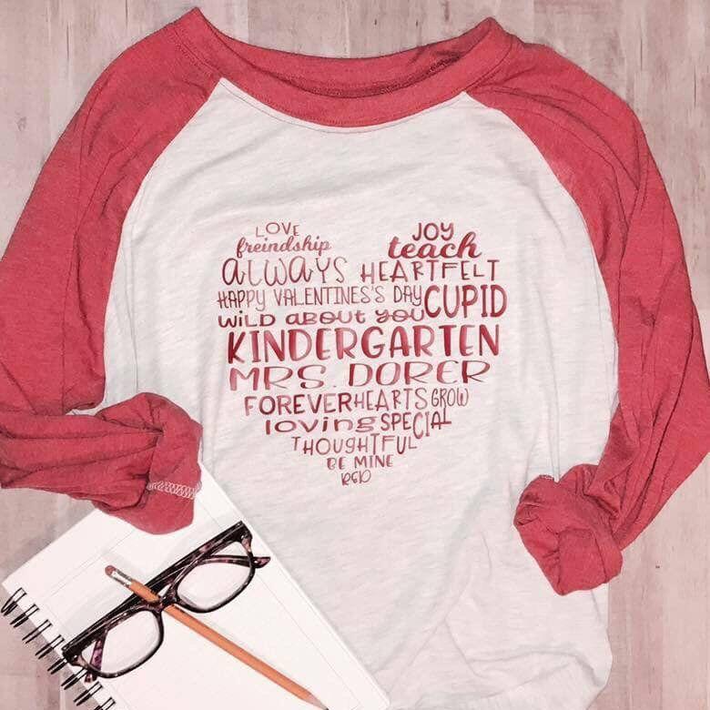 58de14441 Subway Art Teacher/Heart/Teaching/Valentine T-Shirt ...