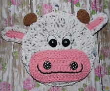crocheted cow potholder decoration madelinda k