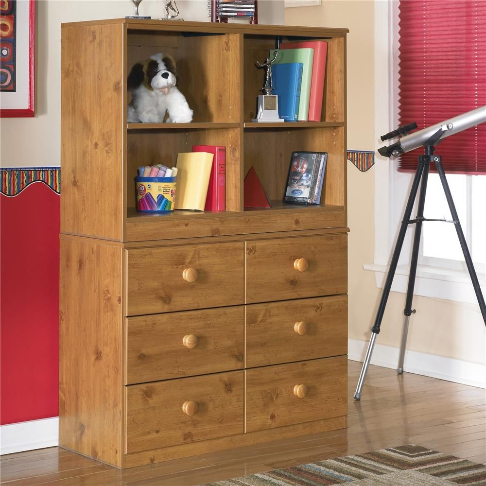 Stages 6 Drawer Chest and Open Bookcase by Signature