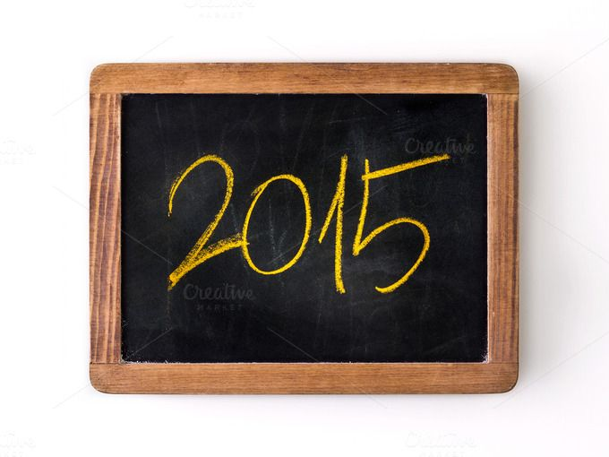 Check out Year 2015 written on a slate by Ricard Vaque on Creative Market