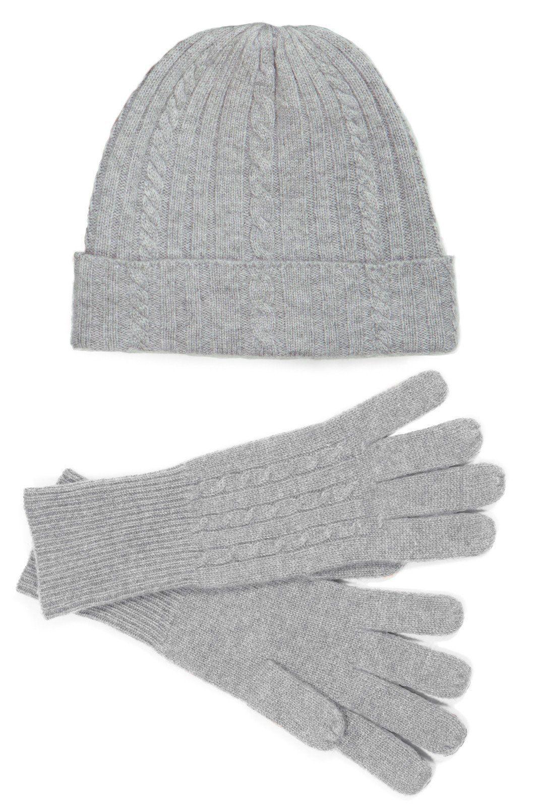 84e43c7c074 Women s 100% Pure Cashmere Hat   Glove Set with Gift Box