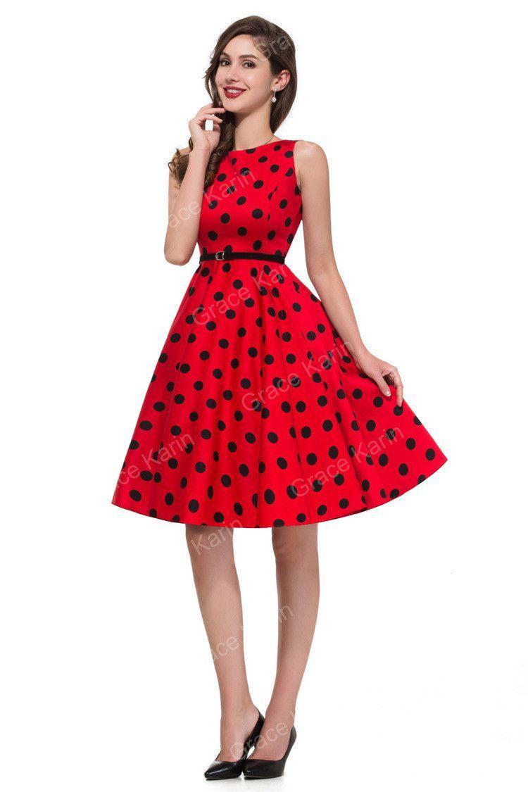 349edb6a95d56 Women Summer Style Inspired Vintage clothing Retro 50s Big Swing ...