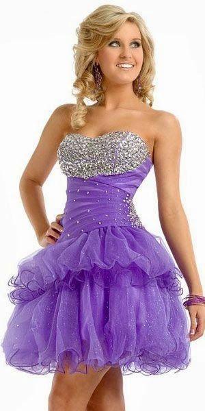 35e5ac7ee Modelos de Vestidos Cortos de color Morado, Purpura o Lila ...