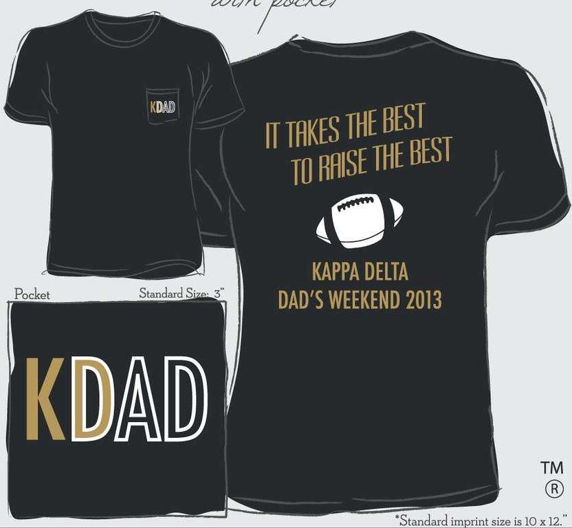 f80843016 Dad's weekend shirt | T-Shirt Ideas | Kappa delta crafts, Kappa ...