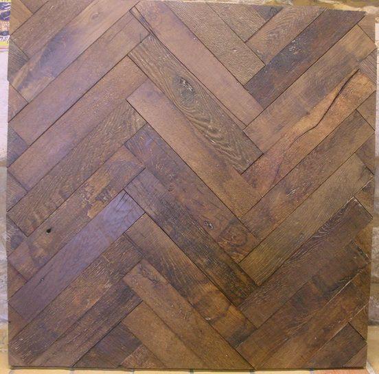 Parquet en chêne ancien à bâtons rompus parquet floor wood hardwood