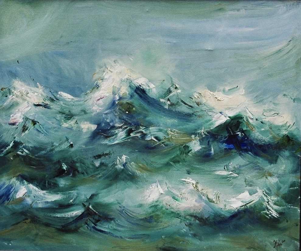 El mar (óleo sobre lienzo)
