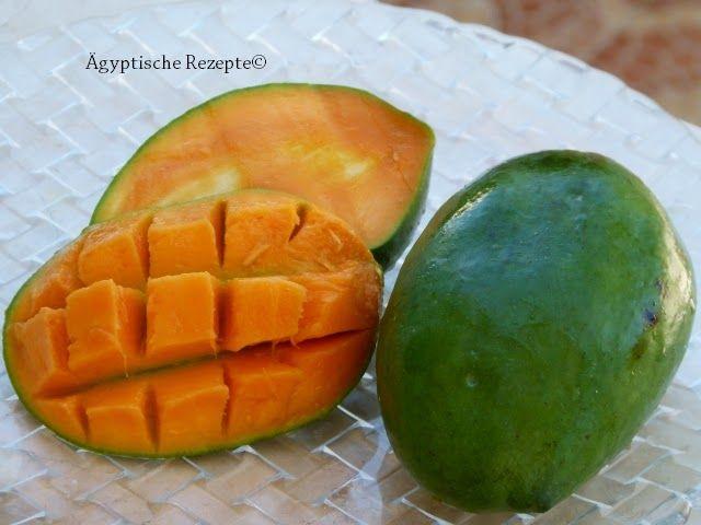 Wer von Juli bis September auf einen Obst- und Gemüsemarkt in Ägypten geht, der kann die  Mangos r...