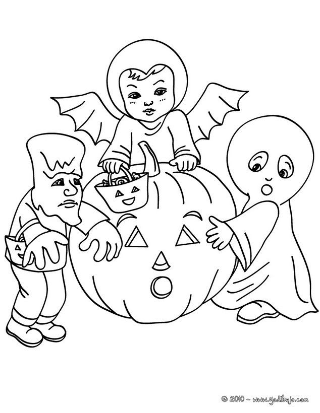 Dorable Dibujos De Halloween Para Niños Ornamento - Dibujos Para ...