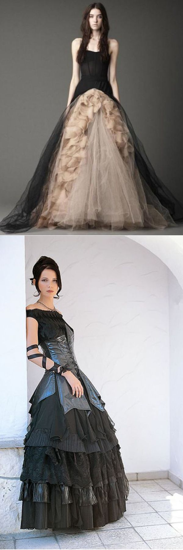 Black and white gothic wedding dresses   Fabulous Gothic Wedding Dress Ideas  Me and Me  Pinterest