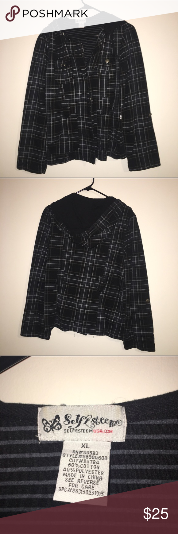 Adorable plaid coat Gently worn, in great condition! Plaid coat perfect to dress up any evening, or for any weekend outfit :)   ⚓️ Only looking to sell my items  ⚓️ I do not trade, so please don't ask  ⚓️ I only use Poshmark™ ⚓️ I do not negotiate prices in comments  ⚓️ Use offer button- not all prices are firm!  ⚓️ Add to bundle and SAVE!  ⚓️ Thanks for visiting! Happy Poshing!! Self Esteem Jackets & Coats