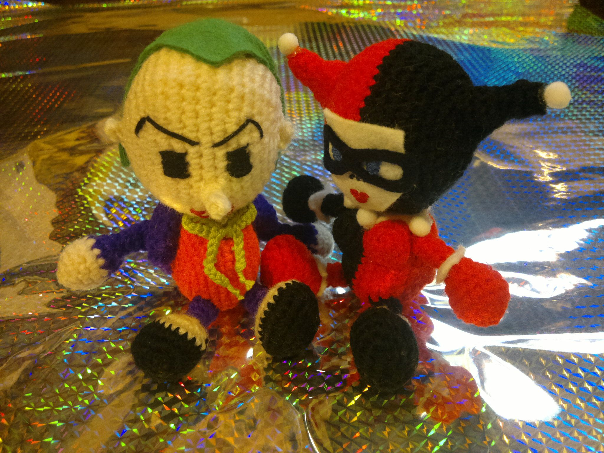 Harley Quinn and The Joker (Free Pattern Edit)