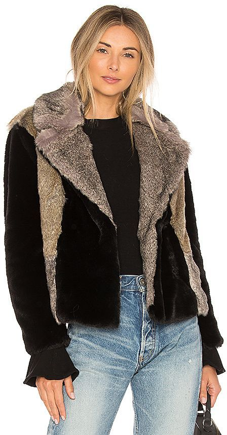 4431f5a346 Rebecca Taylor Patched Faux Fur Jacket | Products | Faux fur jacket ...