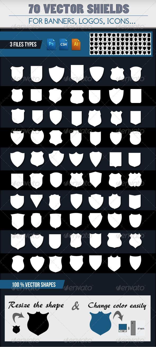 70 Emblem Shields Wappen Vorlage