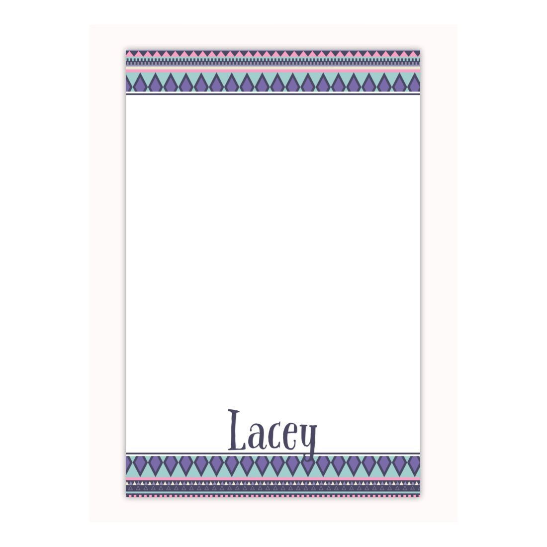 Personalized Notepad In Tribal Print Custom Notepad Memo Pad