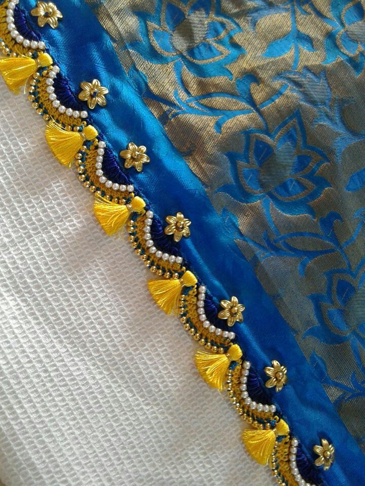 Crochet | Saree tassels | Saree kuchu designs, Saree ...