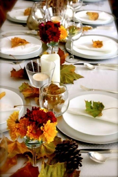 Tischdeko herbst selbstgemacht  30 coole Ideen für Tischdeko im Herbst - Herbstdeko basteln | Deko ...
