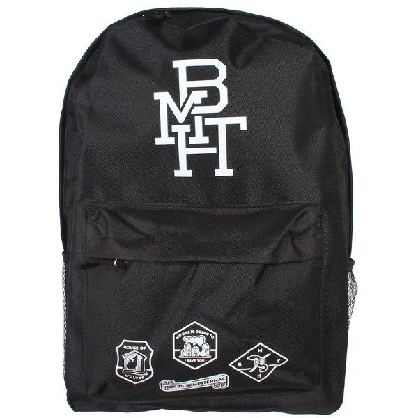 Bring Me The Horizon BMTH Backpack:Amazon:Clothing ❤ liked on Polyvore featuring bags, backpacks, backpacks bags, knapsack bags and rucksack bag