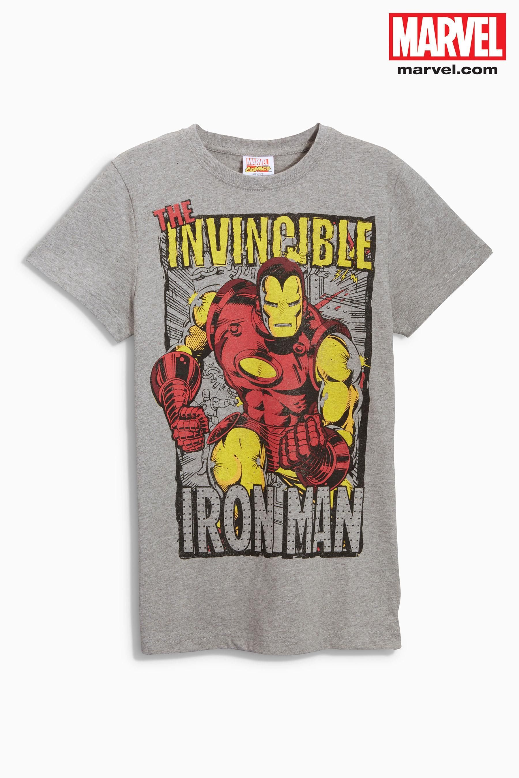 7e22f555 Buy Grey Ironman T-Shirt (3-16yrs) online today at Next: United States of  America