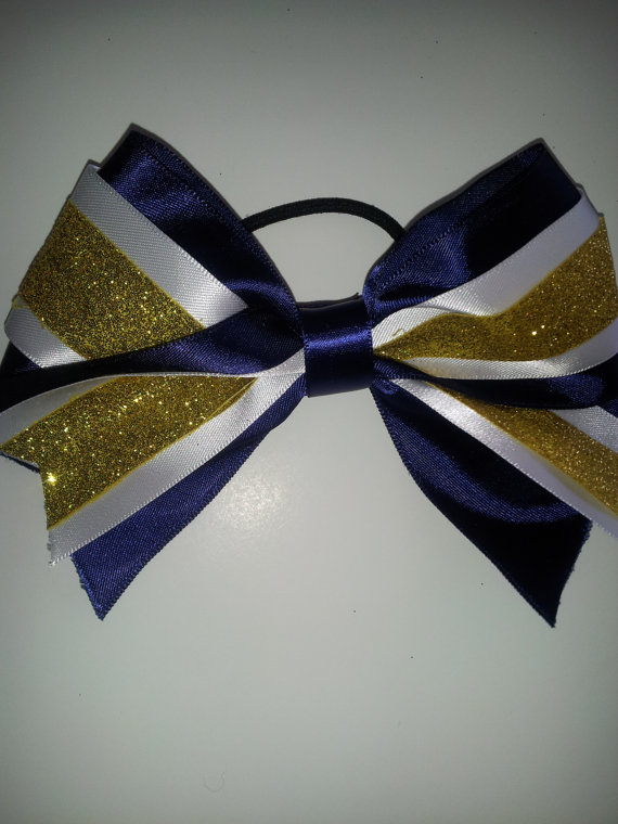 CHEERLEADING CHEER DANCE GYM TEAM  HAIR BOW LARGE  ANY  DESIGN BESPOKE