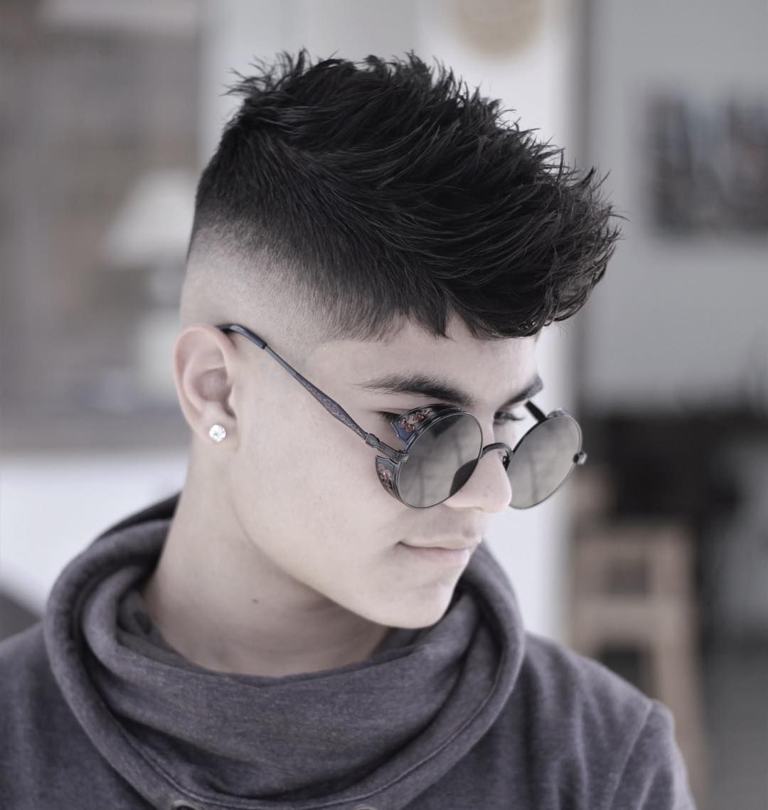Guys mid fade with mohawk haircuts hairstyle pinterest mid