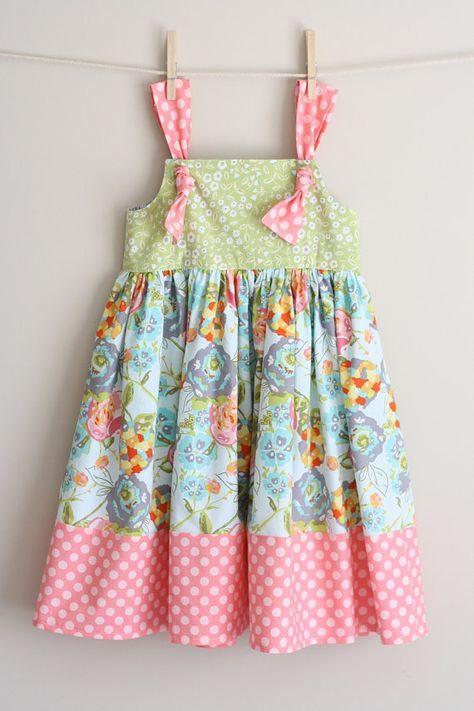Выкройки платьев для девочек с оборками фото 601