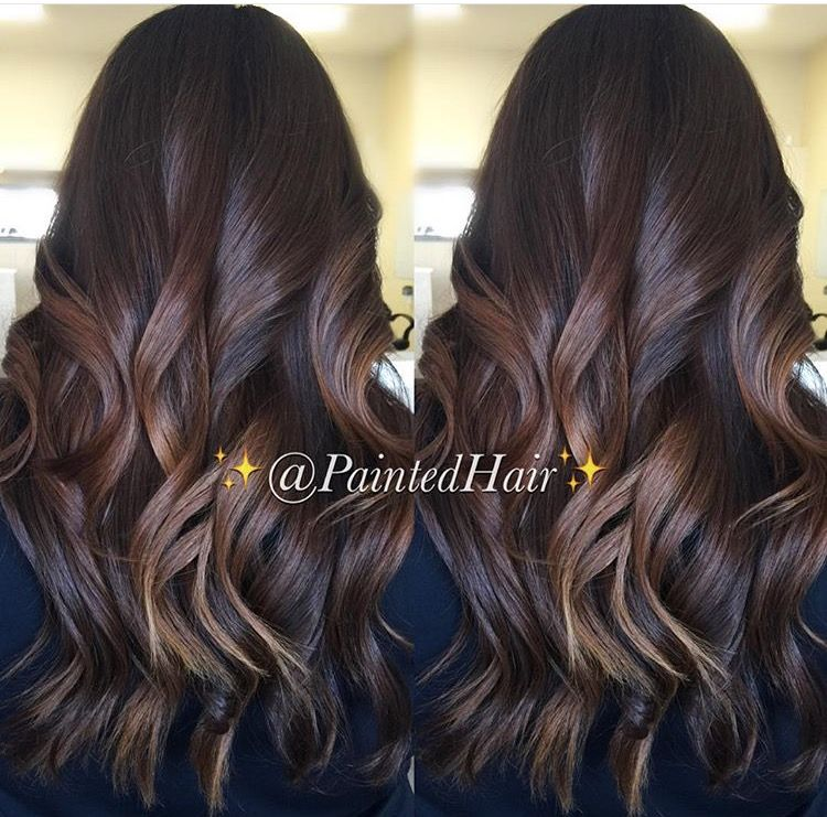 Chocolate caramel painted hair