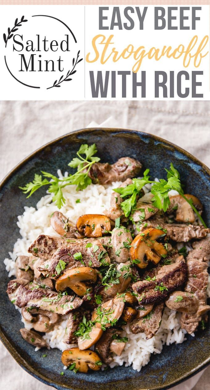 Easy Beef Stroganoff with Rice images