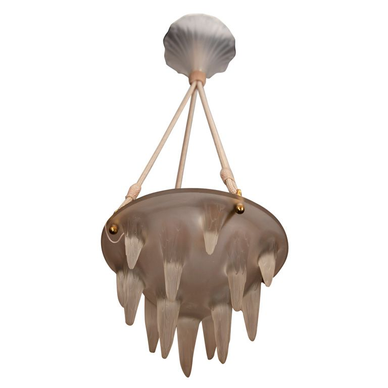 Rene lalique chandelier stalactites france 1920 a rare and unusual rene lalique chandelier
