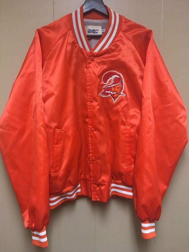 904521d4 VTG NFL Tampa Bay Buccaneers Chalkline Satin Jacket | eBay | 80s 90s ...