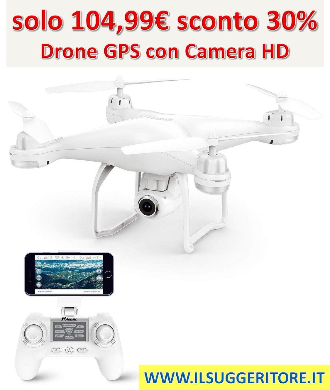 02859b88a83b11 Potensic Drone GPS Telecamera 1080P Drone Professionale T25 Dual GPS con  Grandangolare Regolabile Camera HD WiFi