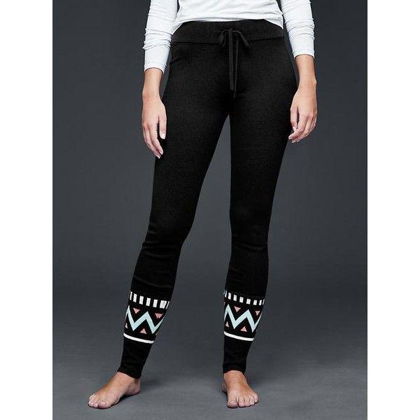 Gap Women Pure Body Chevron Sweater Leggings ($47) ❤ liked on ...