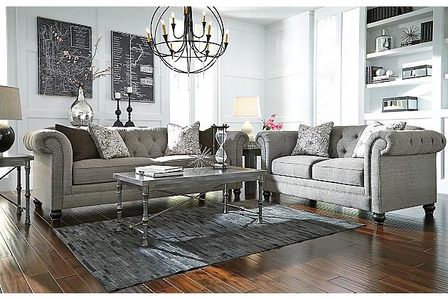Charcoal Ardenboro Loveseat View 3 Home Grey Sofa