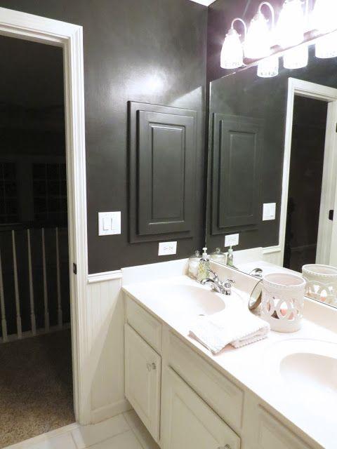 TiffanyD: Our Little Black Satin Bathroom. Interesting ...